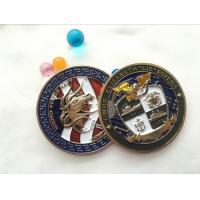 Soft enamel Die casting Printing double side brass coin souvenir, custom military 3d challenge coin