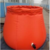 China 3000L Capacity Collapsible Onion Shape Plastic Water Storage Tank For Fire Rescue on sale