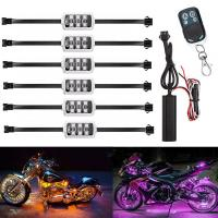 Motorcycle LED Night Rider Light Kit  -With Remote Control Manufactures