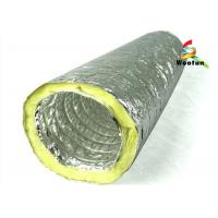 Quality Air conditioning Fire Resistant Insulated Aluminum Flexible Ducting , Insulated Vent Ducting for sale