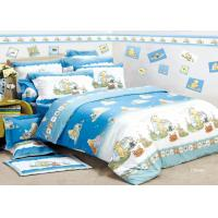 China Blue Flat Kids Bed Sheet Sets Single / Double Reactive Eco-friendly For Teenager on sale