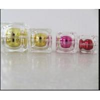 Quality 15g 30g 50g Crystal Double Wall Rounded Square Acrylic Cream Jar and Bottles for sale