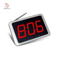 Wireless wall fixed or desktop 433.92Mhz one group 3 digits call number monitor