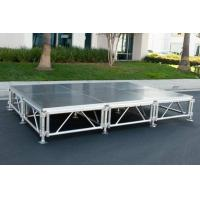 Adjustable Mobile Portable Stage , Aluminum Plywood Platform Stage Manufactures