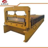Roofing Plate Trapezoidal Sheet Roll Forming Machine 5.5kw Power Custom Colors Manufactures
