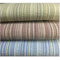 Colored Striped Linen / Cotton Seersucker Fabric 32*30 / 80*70 Manufactures