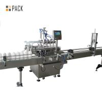 High Accuracy Automatic Oil Filling Machine Touch Screen PLC Control Manufactures