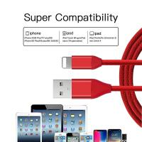 Nylon Braided USB Data Cable , USB Charging Cable For IPhone 6S / IPhone X Manufactures