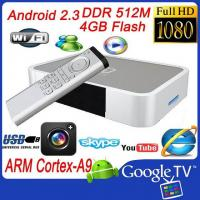 Android TV Box Android 2.3 OS Amlogic 8726M ARM Cortex Manufactures