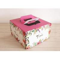 Custom Colored Kraft Paper Cake Boxes With Handles Self - sealing Pastry Boxes Manufactures