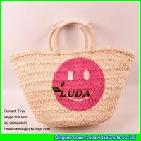 LUDA fashion women summer cornhusk straw bag straw tote bags Manufactures