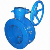 Double Flange Butterfly Valve with Rubber Lined Disc and BS 5155 Standard Manufactures