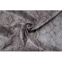 Snake Skin Design Printed PU Leather 0.65mm For Ladies Jacket / Bags Manufactures