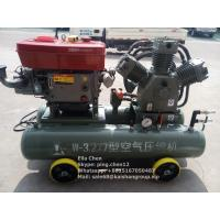 Gold Mining 25 HP Diesel Engine Mobile Piston Air Compressor 3.2m3/Min 7 Bar Manufactures