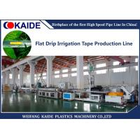 Inline Flat Drip Irrigation Tape Production Line With 180m/min Line Speed Manufactures