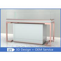 Quality Rose Gold Glass Jewellery Shop Display Counter / Jewelry Counter for sale