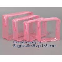 China TSA Approved Clear Travel Toiletry Bag Holiday Cosmetic Bag PVC Makeup Bags Different Size 3 Pieces, bagease, bagplastic on sale