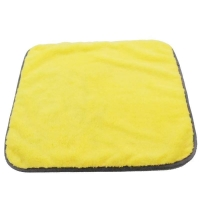 China 40x70cm Yellow Gray Color Coral Fleece Microfiber Towel for Cleaing Car use on sale