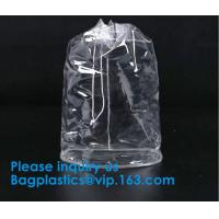 China PVC Transparent Drawstring Bag For Sports Cloth,Promotional Transparent PVC Clear Drawstring Backpack Bags Promotion Gif on sale