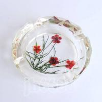 crystal ashtray with flower amber,home decor,furnishings,decoration,crystal crafts Manufactures