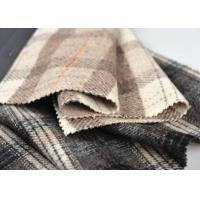 Multi Purpose Tartan Plaid Fabric 50% Wool Various Design For Baby Manufactures