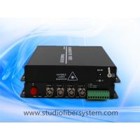 OEM 4 port 5MP/4MP/3MP/1080P/720P AHD to fiber converter for HD coaxial cctv camera surveillance Manufactures