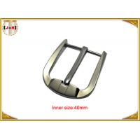 Custom Silver Plated Zinc Alloy Belt Buckle Environmentally Friendly Manufactures