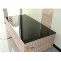 Black Water Resistant UV MDF Board / Chipboard For Kitchen Cabinet Door Manufactures