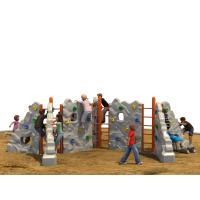 Outdoor Kids Climbing Wall Color Optional With Anti Theft Screws Manufactures