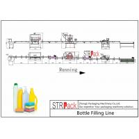 Cleaner Bottle Filling Line With Anti corrosive Gravity bottle Filler and Rotary Capping Machine Manufactures