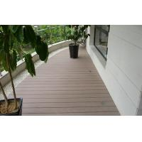 Natural Waterproof Composite Decking For Balcony / Anti - Slip Deck Flooring Tiles Manufactures