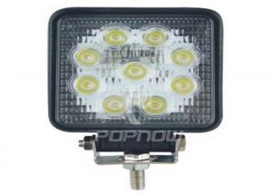 China Square 27W LED Work Lights 12V , 6000K Car Work Lights For Police Car on sale