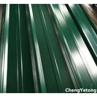 Green Color Coated Roofing Sheets / Precoated Roofing Sheets With Acid / Alkali Resistance Manufactures