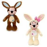 Customized Stuffed Animals Easter Mickey Mouse Bunny Plush Toys in Brown / Off white Manufactures