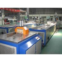 Decking WPC Profile Extrusion Line / PVC Wood Plastic Composite Extruder Manufactures