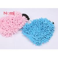 Magic Microfiber Chenille Wash Mitt , Microfiber Glove Mitt For Car Cleaning Washing Manufactures