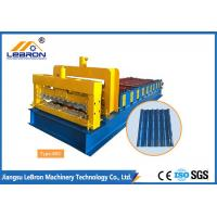 Quality 6500mm Length Glazed Roof Tile Roll Forming Machine 1200/1000mm Material Width for sale
