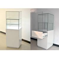 White Glass Wooden Jewelry Display Cases With Locks 500 X 500 X 1500MM Manufactures