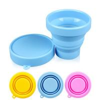 China 100% silicone rubber Products unbreakable foldable drinking cup with lid on sale