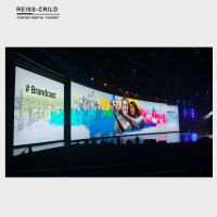 Lightweight Indoor Curved LED Display Screen Rental Low Power Consumption Manufactures