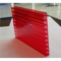 China Twin-wall PC sheet Red color on sale