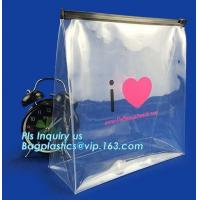 zipper slider bag cosmetic packaging slider bag, make up bag promotional cosmetic bag slider bag, toiletry pouch eva cos Manufactures