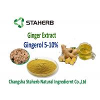 Ginger extract  5%, 10%, 20%, 50% Gingerol by SCFE CO2 Raw materials for gastrointestinal Manufactures
