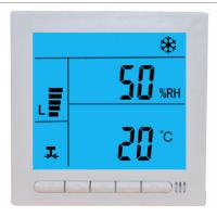 China Large LCD Digital Fcu Thermostat / Temperature Humidity Thermostat Wired Controller on sale