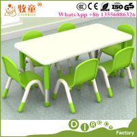 China MDF Material Kids Wood Children Rectangle Table and Chairs for Early Childhood Educational Centre on sale