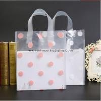 Recycled Die Cut Handle Bags , PE Clear Plastic Shopping Bags With Handles Manufactures