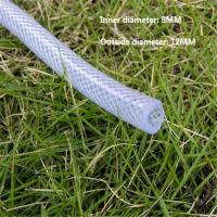 China Flexible Expandable Clear PVC Fiber Braided Reinforced Plastic Hose Water No Kink Garden pvc Hose For Gardening on sale