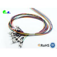 China FC PC 12F Color-Coded 900um Fiber Pigtails Set Single Mode G652D Pigtail PVC 1.5M on sale