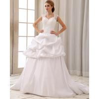 Romantic Lace Cap Sleeve Halter Neck Wedding Dresses With Heart Shaped Bra Manufactures