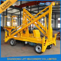 Work Platform Trailer Mounted Boom Lift , 15m 200kgs Automatic Mobile Towable Boom Lift Manufactures